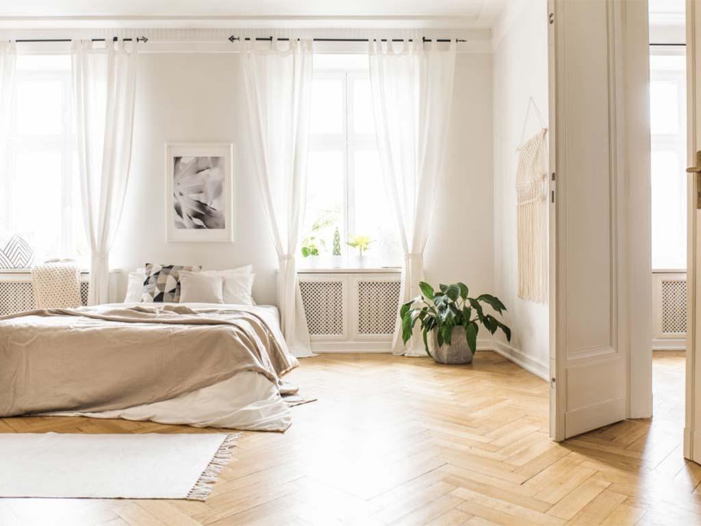 White curtains dubai