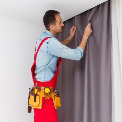 Curtains fixing and installation services Dubai
