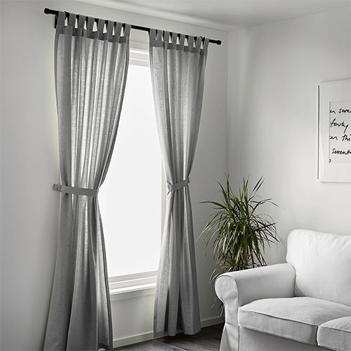 Ikea & Dragon Mart Curtains At Living With White