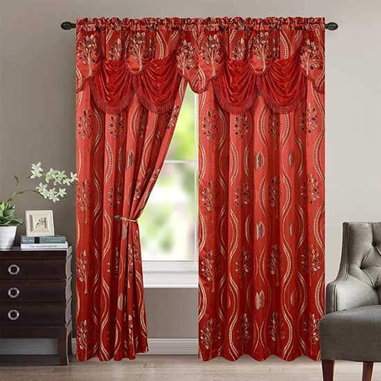 Modern Red Curtains Dubai