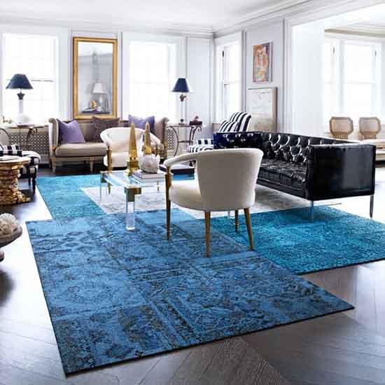 Trendy Living room rugs
