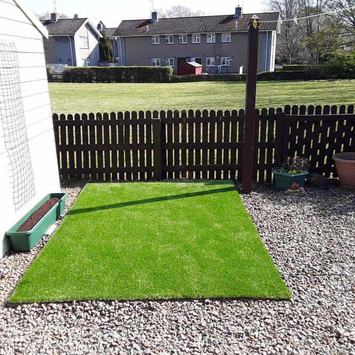 grass carpet installation