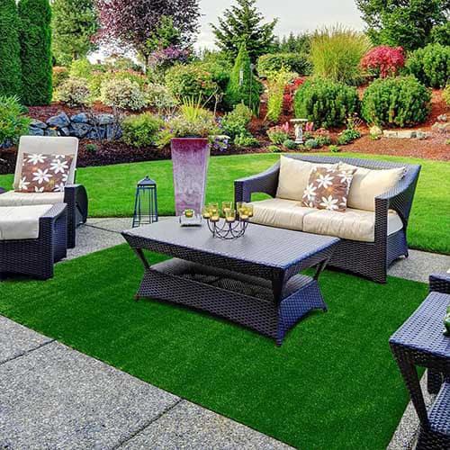 Grass carpet garden