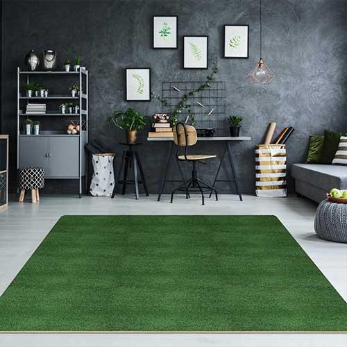 Grass carpet home
